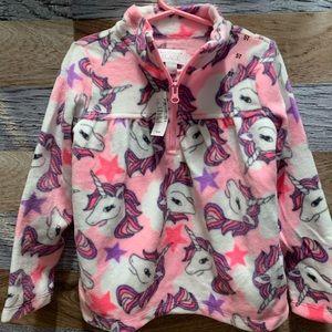New Children's Place Unicorn Fleece Pullover 5T